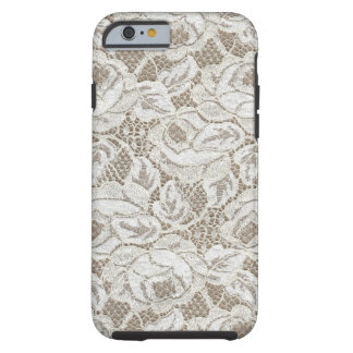 Vintage White Rose Lace Tough iPhone 6 Case