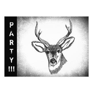 Vintage Whitetail Deer art Announcements