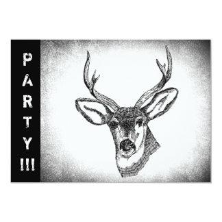 Vintage Whitetail Deer art 13 Cm X 18 Cm Invitation Card