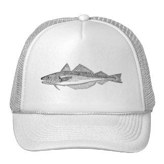 Vintage Whiting Fish - Aquatic Fishes Template Cap
