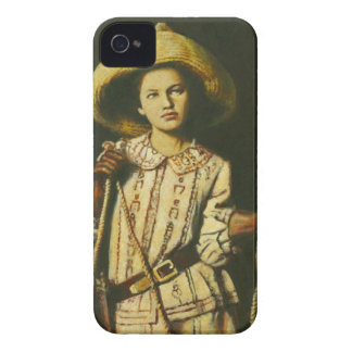 Vintage Wid West Cowgirl iPhone 4 Case-Mate