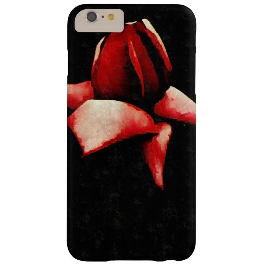 Vintage Wide Open Stylised Red Rose Barely There iPhone 6 Plus Case
