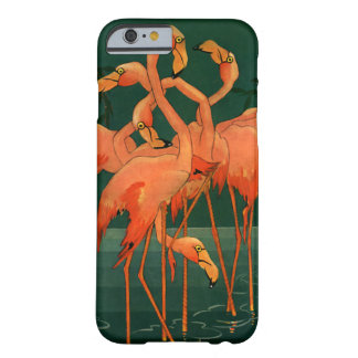 Vintage Wild Animal Birds, Tropical Pink Flamingos Barely There iPhone 6 Case