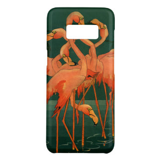 Vintage Wild Animal Birds, Tropical Pink Flamingos Case-Mate Samsung Galaxy S8 Case