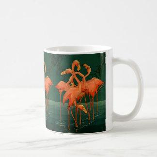 Vintage Wild Animal Birds, Tropical Pink Flamingos Coffee Mug