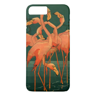 Vintage Wild Animal Birds, Tropical Pink Flamingos iPhone 8 Plus/7 Plus Case