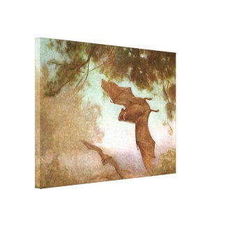 Vintage Wild Animal, Vampire Bats by CE Swan Canvas Prints