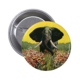 Vintage Wild Animals, African Elefant Cobra Snake Pin