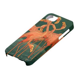 Vintage Wild Animals Birds, Pink Flamingos Tropics iPhone 5 Cases