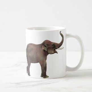 Vintage Wild Animals, Good Luck Asian Elephants Coffee Mug