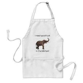 Vintage Wild Animals, Good Luck Asian Elephants Standard Apron