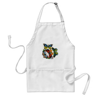 Vintage Wild Animals, Insects, Bugs, Butterflies Adult Apron