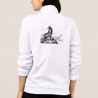 Vintage Wild Horse Mustang Stallion Template Jackets