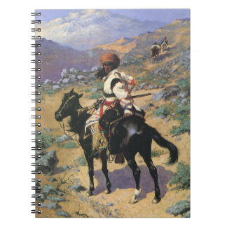 Vintage Wild West, An Indian Trapper by Remington Spiral Notebook