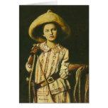 Vintage Wild West Cowgirl Greetings card