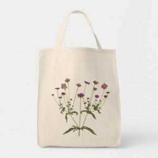 Vintage Wildflower Organic Grocery Tote Bag