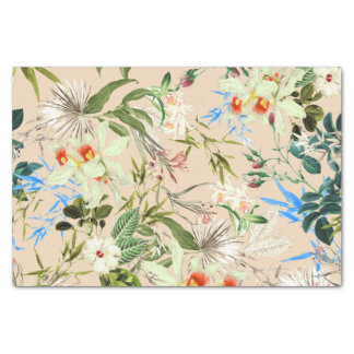Vintage Wildflowers Pattern Tissue Paper