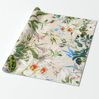 Vintage Wildflowers Pattern Wrapping Paper