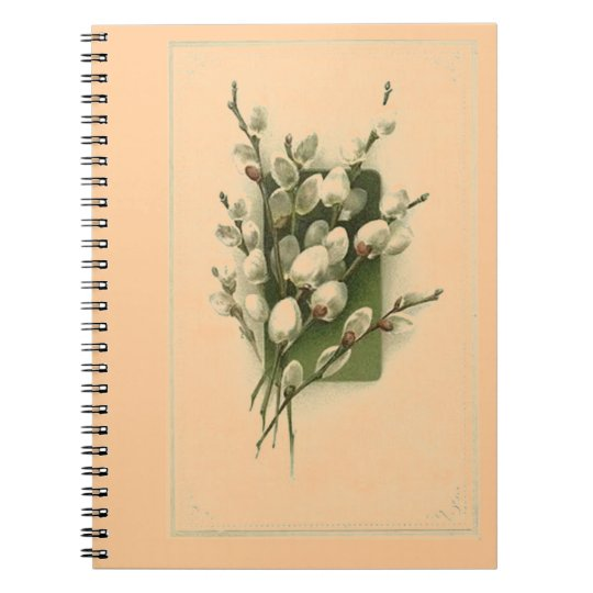 Vintage Wildflowers Pussy-Willow Notebook