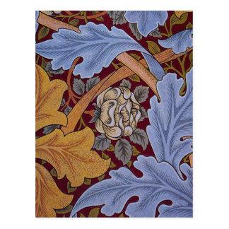 Vintage William Morris Acanthus Design Postcard