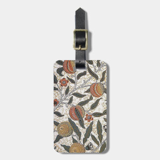 Vintage William Morris Pomegranate Luggage Tag