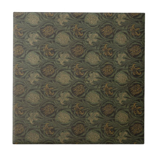 Vintage William Morris Tulip and Lily Tile