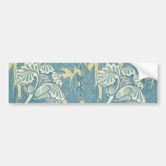 Vintage William Morris Tulip Floral Design Bumper Sticker