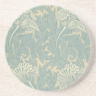 Vintage William Morris Tulip Floral Design Coaster