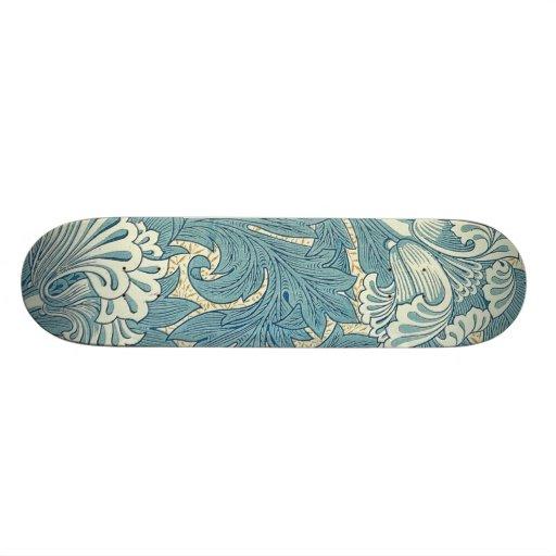 Vintage William Morris Tulip Floral Design Skate Board