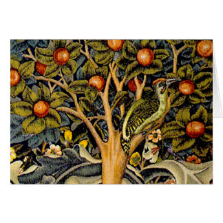 Vintage William Morris Woodpeckers Card