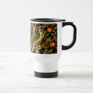 Vintage William Morris Woodpeckers Stainless Steel Travel Mug
