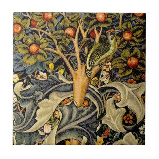 Vintage William Morris Woodpeckers Tile