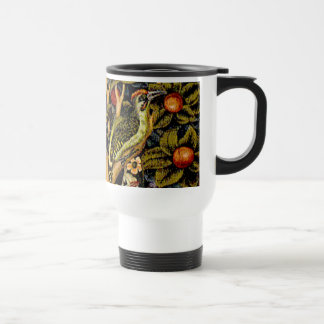 Vintage William Morris Woodpeckers Travel Mug