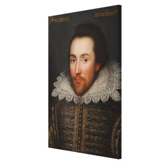 Vintage William Shakespeare Portrait Canvas Print