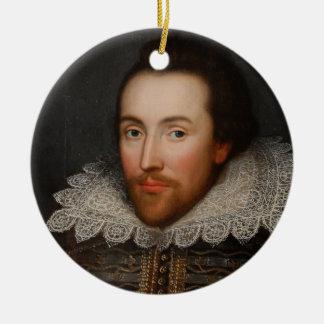 Vintage William Shakespeare Portrait Christmas Ornament