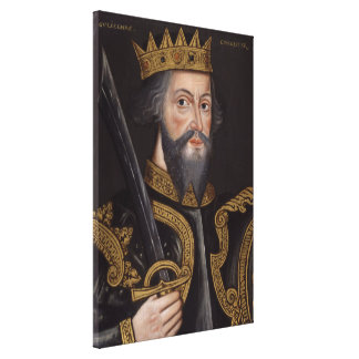 Vintage William The Conqueror Portrait Canvas Print