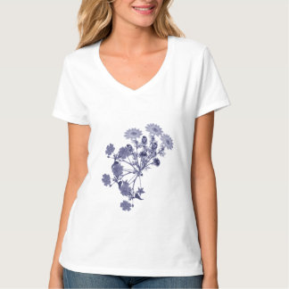 Vintage willow pattern flowers T-Shirt