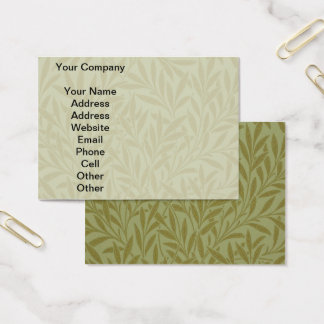 Vintage Willow William Morris Wallpaper Design Business Card