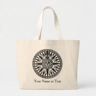Vintage Wind Rose Compass Design Travel Bag