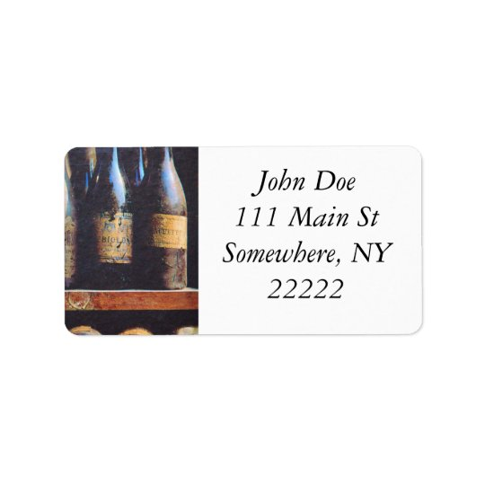 Vintage Wine Address Label