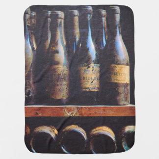 Vintage Wine Baby Blankets