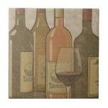 Vintage Wine Bottle Tile Trivet