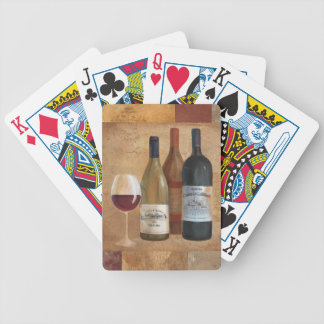 Vintage Wine Bottles and Wine Glass Bicycle Playing Cards