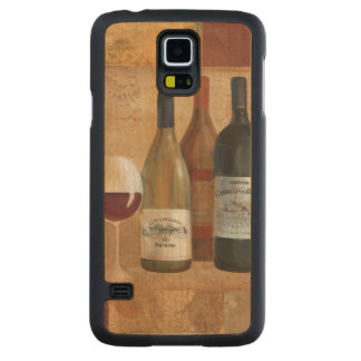 Vintage Wine Bottles and Wine Glass Carved Maple Galaxy S5 Case