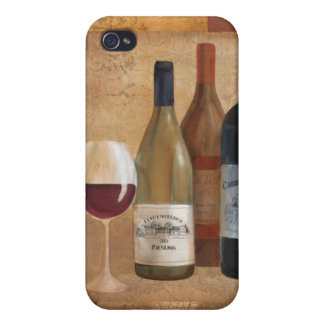 Vintage Wine Bottles and Wine Glass Covers For iPhone 4