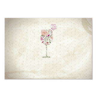 Vintage Wine Glass Bridal Shower 9 Cm X 13 Cm Invitation Card