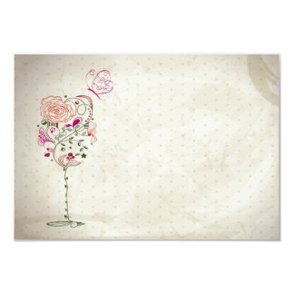 Vintage Wine Glass Bridal Shower Card