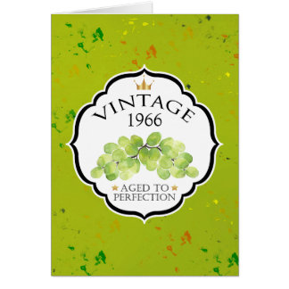 Vintage Wine Label Birthday Card