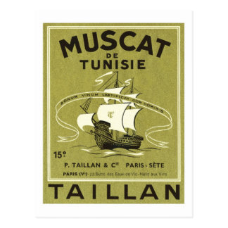 Vintage Wine Liquor Product Label Postcard