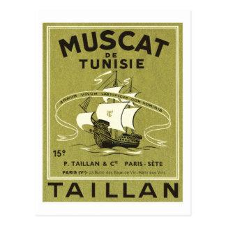 Vintage Wine Liquor Product Label Postcard